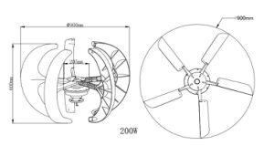 generador inferior de la energía de la turbina del molino de viento/de viento de la revolución por minuto 100W/eólica para las farolas