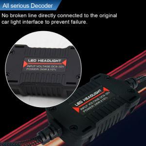 360程度デコーダーCanbusが付いている修理可能な自動車ヘッド電球H4 H7 H13 9007の8000lmクリー族F2 LEDのヘッドライト