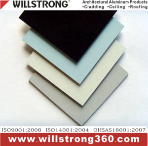 Material-Aluminiumpanel der Zwischenwand 4 Außen-PVDF zusammengesetztes mm-