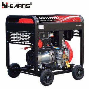 Modèle de portable de 8 KW avec 4 roues Générateur Diesel (DG11000E3)