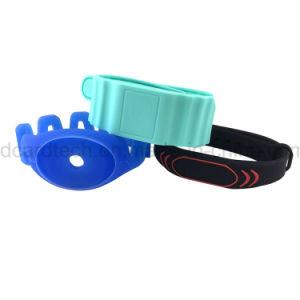 Wristband riutilizzabile personalizzato del silicone di stampa 13.56MHz RFID di marchio