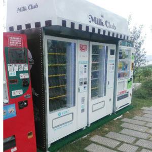 A opção Predefiniç autom máquina de venda de cerveja a aceitar o pagamento de cartão