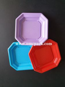 Plaque en plastique carrée PS pour les emballages des aliments