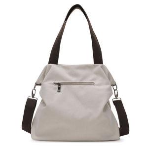 綿のハンドバッグの純粋な女性の肩の戦闘状況表示板の余暇浜袋