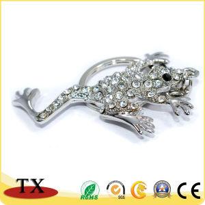 Stellt in der China-kundenspezifische Tierfrosch-Form-Schlüsselkette her