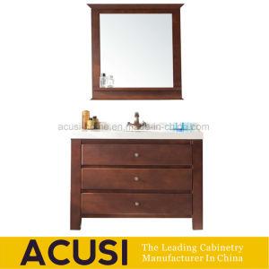 Vanità moderna americana della stanza da bagno di legno solido di stile e Governi (ACS1-W62)