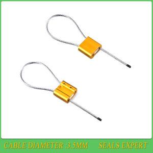 Tirare fortemente la chiusura di piccole guarnizioni a chiave poco costose del cavo della lega di alluminio di 3.5mm