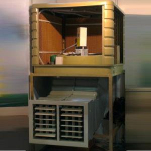 Две скорости 18000CMH PP материала, установленный на крыше коммерческих охладитель нагнетаемого воздуха с маркировкой CE