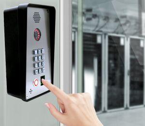 Porta de impressão digital de entrada do sistema de intercomunicador de vídeo IP CAMPAINHA TELEFONE da Porta