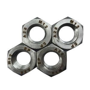 Alliage de 1.4563 28 DIN934 l'écrou hexagonal