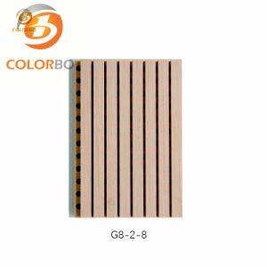 Огнеупорные меламина поверхности древесины канавку Акустические панели