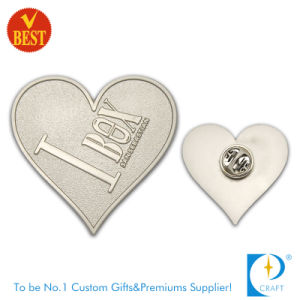 Distintivo rosso di Pin del nastro del regalo del tovagliolo di simbolo su ordinazione di consapevolezza per il ricordo dalla Cina
