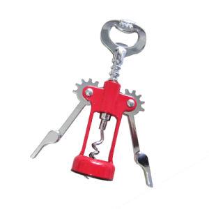 昇進の安い鉄のキーホルダー(016)が付いている簡単な金属の栓抜き