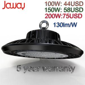 130lm/W 100W/150W/200W LED Industrial de la Bahía de alta Luz, luz de la Bahía de LED de bajo con 5 años de garantía.