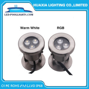 RGB LED 3W Foco submarino con Ce RoHS IP68