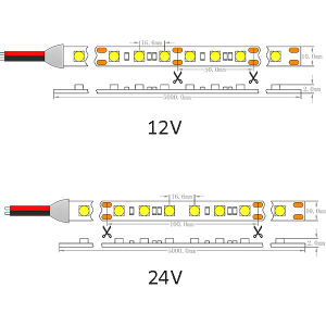 UL Ce Epistar LED SMD5050 60/M Non-Waterproof 24V, TIRA DE LEDS