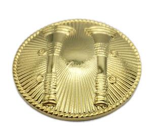 Nach Maß Goldmetallreversgroßhandelspin als dekoratives Geschenk mit Seil-Rand (191)