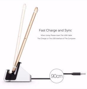 Мода 3 в 1 держатель для зарядки USB + для настольных ПК + Синхронизация док-передача данных зарядное устройство для iPhone 6 6s Plus