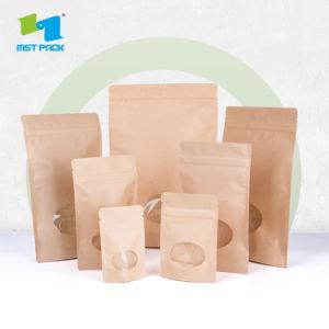 1114fa3ebc Grau alimentício fecho zip embalagem de papel Kraft Marrom Saco de  alimentos –Grau alimentício fecho zip embalagem de papel Kraft Marrom Saco  de alimentos ...