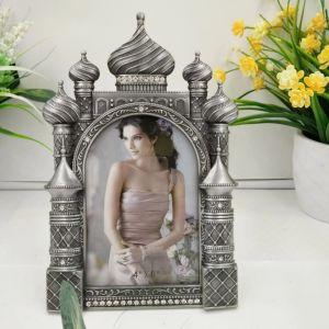 Chapado en oro personalizada imagen Metal de aleación de zinc/Marco de fotos con diseño hueco (019)