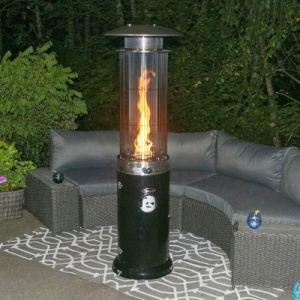 aço inoxidável de elevada eficiência Pátio Exterior de Chão aquecedor a gás
