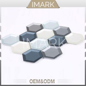 육각형 마루 벽을%s 유리제 모자이크 타일은 건축재료를 타일을 붙인다