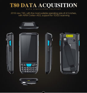 Mobiler androider Aktentaschencomputer PDA mit Barcode-Scanner NFC GPS WiFi