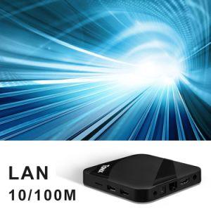 Lud androider intelligenter Fernsehapparat-Kasten DER STÜTZE-Tx3 mit Amlogic S905W 1GB RAM/8GB ROM-gesetztem Spitzenkasten Kodi voll