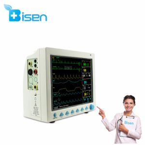 '' TFT BS-Cms8000 12.1 Farbe LCDMulti-Parameter FDA bestätigte das 6 Parameter-Patienten-Überwachungsgerät (ECG, RESP, SpO2, Fotorezeptor, NIBP, Temperatur)