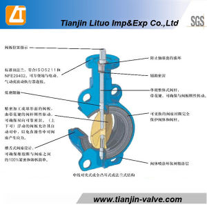 DIN/ANSI 무쇠 웨이퍼 두 배 줄기 나비 벨브