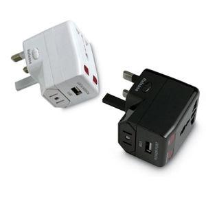 Tudo em um único Adaptador de viagem universal com carregador USB (HS-T095U)