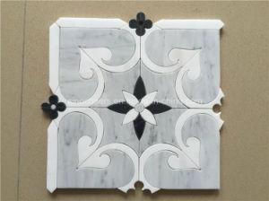 Tegel van het Mozaïek van Carrara de Grijze Marmeren voor Badkamers