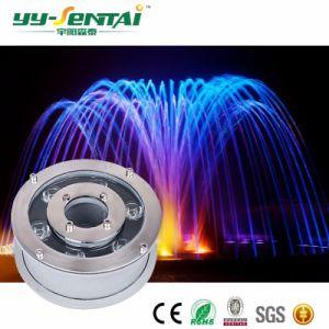 Высокий люмен красочные светодиодная подсветка RGB 6 Вт в IP68 светодиодный индикатор под водой