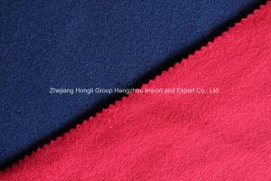 Tecido de poliéster escovado lateral duplo para roupa