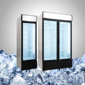 La pantalla de cristal de la botella vertical refrigerador