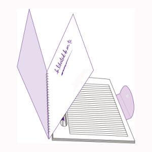 사업 선물 (PPN220)를 위한 PP 덮개를 가진 주문 나선형 주소 노트북