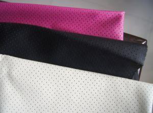 PU com orifícios para vestuário de couro