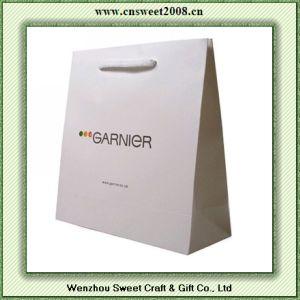 Sacchi di carta di stampa in offset con le maniglie nere della corda (S5P041)