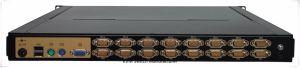 Haute qualité standard 19 pouces 1U avec 1 Port KVM 17 pouces, écran LED de la conception de type tiroir