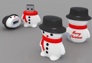 2015 Custom мягкий ПВХ снежную бабу флэш-накопитель USB