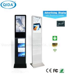 17 Zoll-Fußboden, der Bildschirmanzeige-Spieler LCD-Midea mit Broschüre-Halter steht