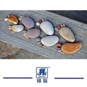 美化するか、または舗装するか、または庭のヤードまたは屋内または装飾または外側のフロアーリングのための高品質の自然で白い小石または舗装するか、または土地