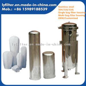 Acero inoxidable 100% de la bolsa de Aqua de la caja del filtro para la purificación de tratamiento de aguas industriales