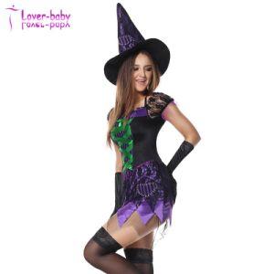 Parte de la Bruja de Halloween Cosplay Masquerade Dress L1206
