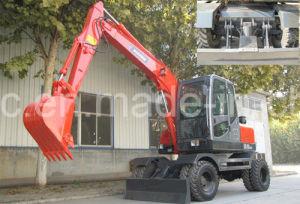 maquinaria de construcción de la excavadora de rueda 6.5T