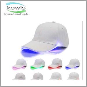 O algodão da alta qualidade ostenta o boné de beisebol do chapéu com a luz do diodo emissor de luz