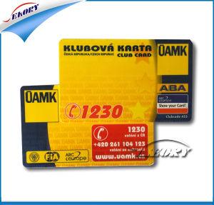 Carte de membre de haute qualité en plastique de la carte en PVC