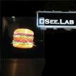 100cm Dseelab Hologramm 3D LED-Bildschirm-Ventilator mit WiFi Steuerganz eigenhändig geschrieber Hypervsn Flugveranstaltung