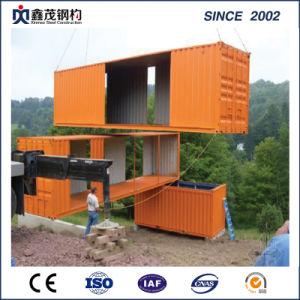 カスタム安い贅沢によって組立て式に作られる生きている容器の家20FT 40FTの容器の家