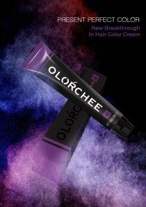 Olorchee naturelle de grande qualité de la crème à base de plantes en vrac Permanent colorant organique couleur des cheveux